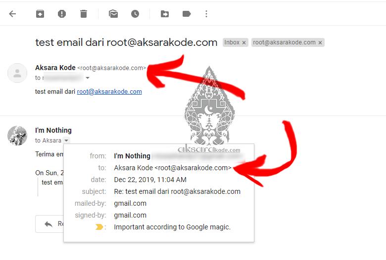 Mengirim dan menerima email domain sendiri di gmail