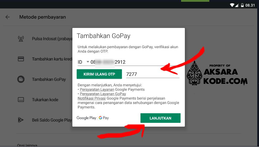 Menambahkan Gopay Di Play Store Menambahkan Gopay Di Play Store