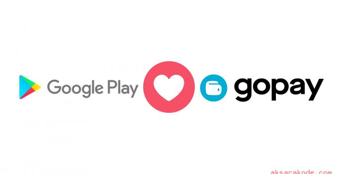 Gopay sebagai metode pembayaran Google Play Store